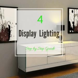 Lighting on sideboard