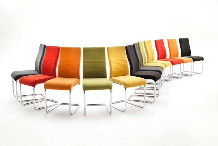 coloured dining chair