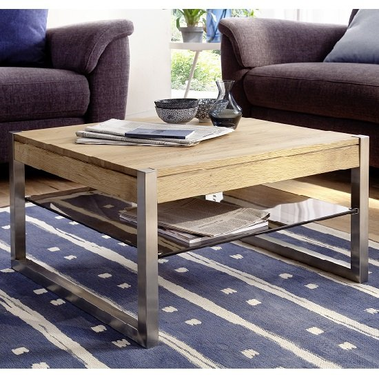 Wooden Coffee Table & Gloss Coffee Table