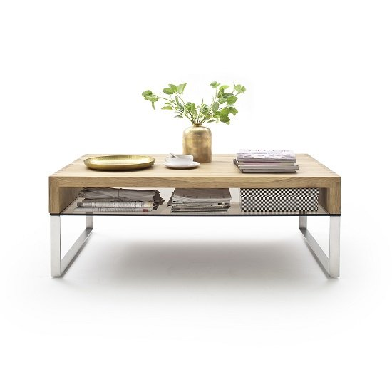 Alana Wooden Coffee Table with storage