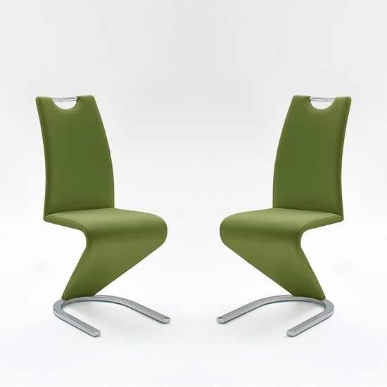 amado dining chair olive pair - Colorful Dining Chairs to Brighten your Dining Space