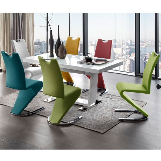 manhatten dining table amado chairs multicolour - Colorful Dining Chairs to Brighten your Dining Space