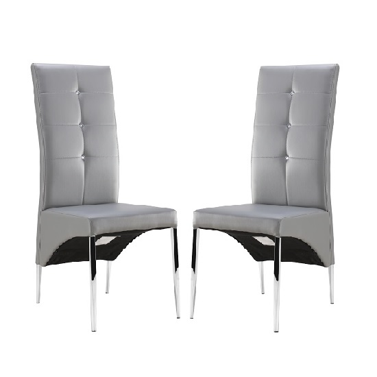 vesta grey pair - Colorful Dining Chairs to Brighten your Dining Space