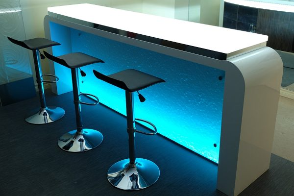 RGB lights bring unique style to your kitchen and home bar e1493906009874 - Home Bar Table of Your Dreams: Top Trends For 2017