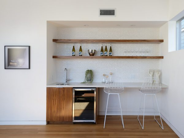 Make shift home bar table