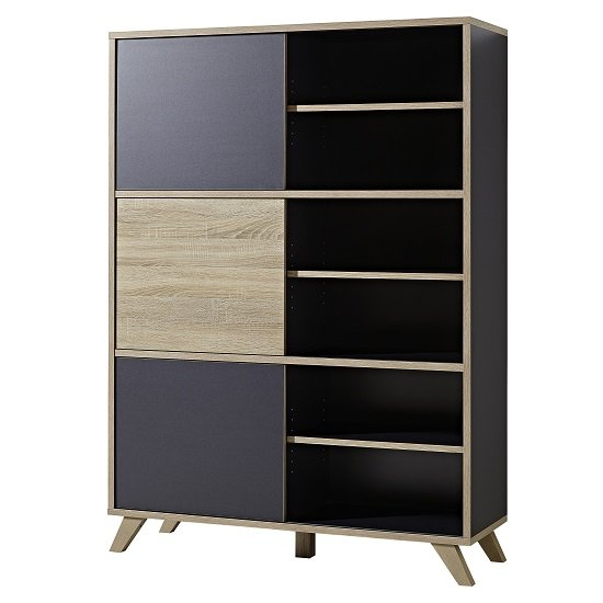 darcey wooden tall shelving unit anthracite - 6 potential home office spots that you might not have considered