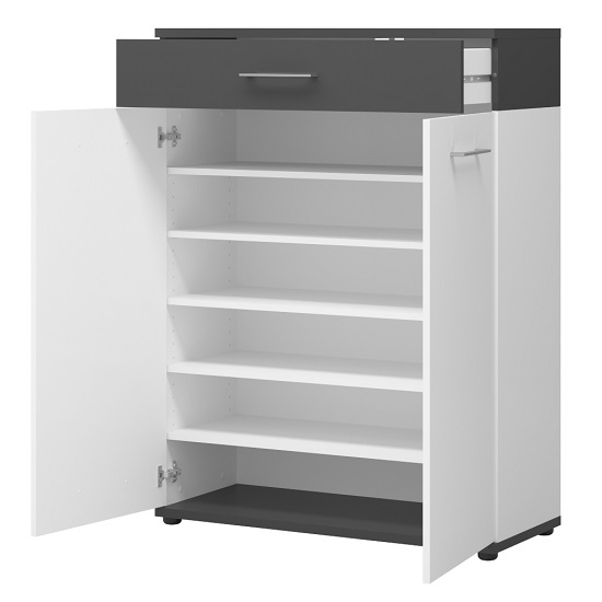 geneva_wooden_shoe_storage_cabinet_white_anthracite_open