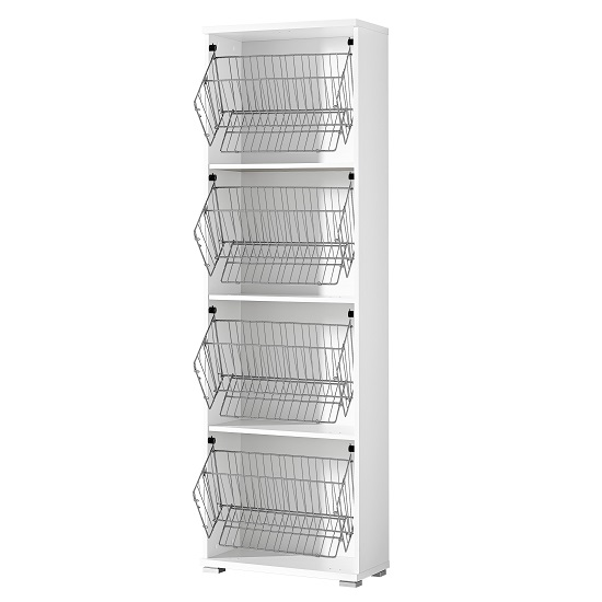 Madison Large Shoe Storage Cabinet With Vanilla Fronts
