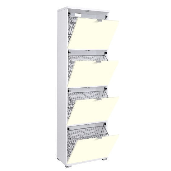 madison large shoe cabinet vanilla open - 5 Great Home Shoe Storage Solutions From Our Current Range