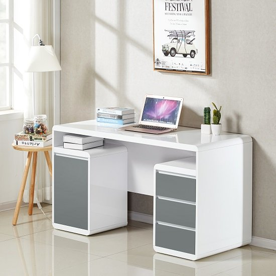 daniele computer desk white grey - What kind of computer desk would be best for you?