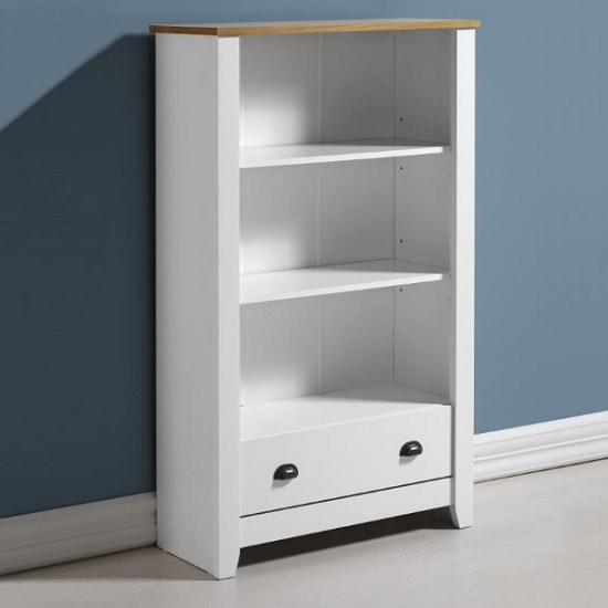 gibson wooden bookcase white oak min - A bookcase doesn't have to be just for books!
