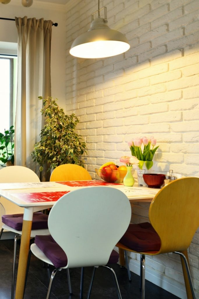 Multi coloured dining table and chairs 1 683x1024 - Multi coloured dining table and chairs