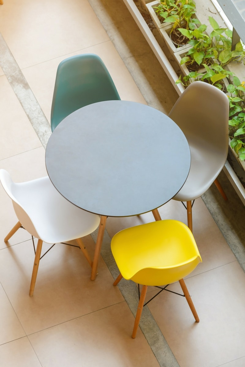 Make the best use of the space available in your dining room with hideaway dining table and chairs