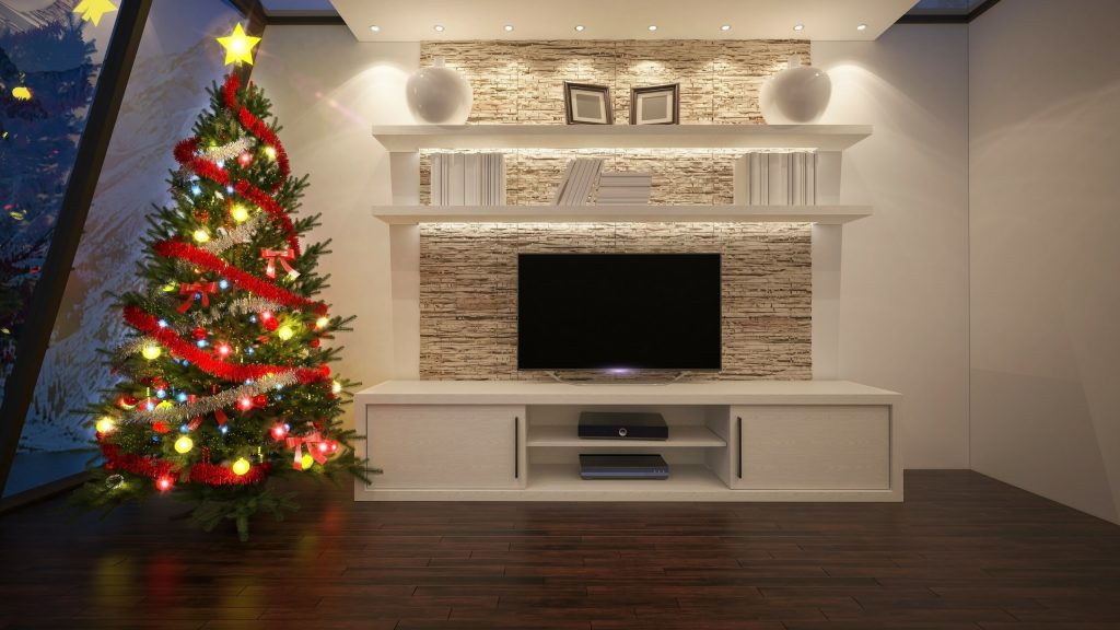 Perfect TV stands for Christmas