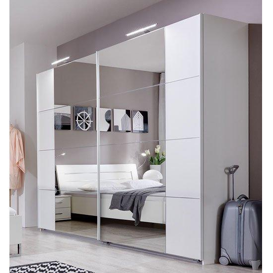 davos sliding wardrobe white 734794 - Sliding Door Wardrobes that will inspire you