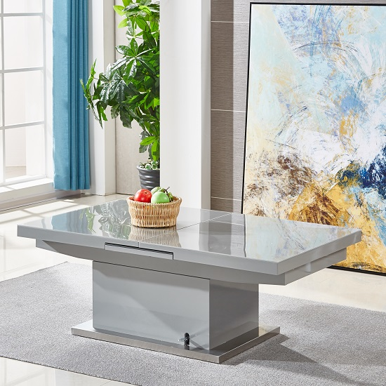 elgin coffee table grey gloss - How to Gain More Space During Christmas