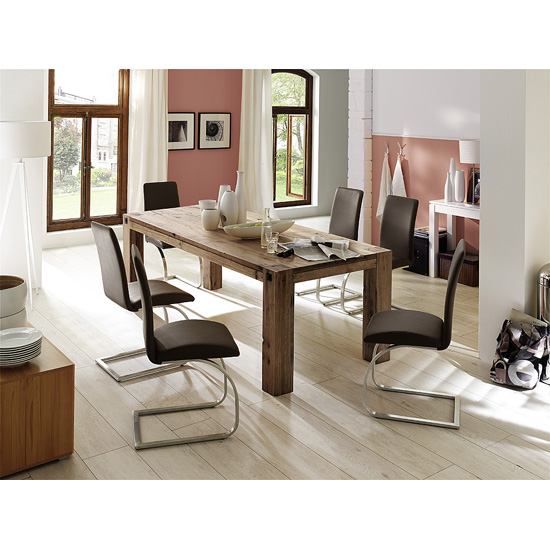 Large Solid Oak Dining Table And The Interiors It Can Fit Into