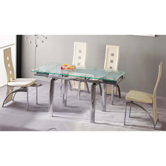 Decoration Ideas On Furnishing A Room With Glass Dining Table And Cream Chairs