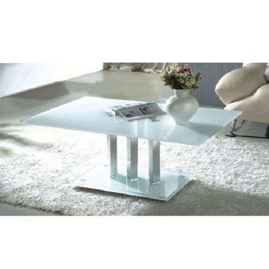 4 Variations Of A White Glass Coffee Table Set