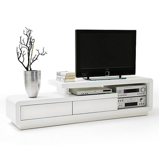 59052WW CELIA White MCA - Modernise your TV stand with High Gloss