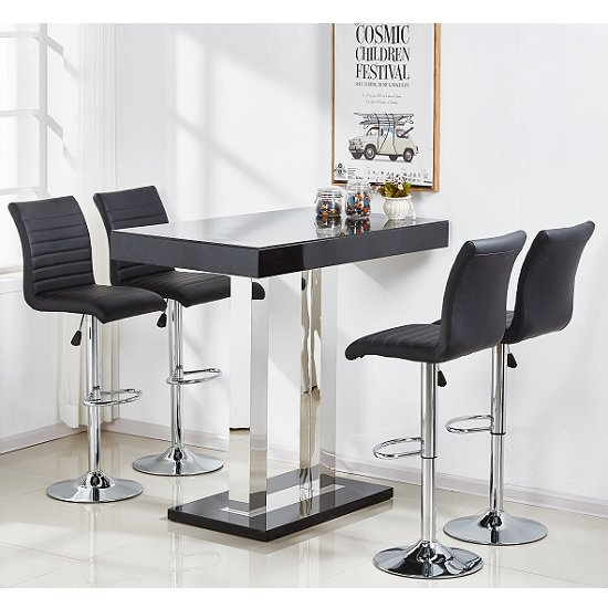 caprice black bar table ripple black - Caprice Bar Table, A Perfect Match For Your Kitchen