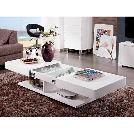 ST B43 Coffee Table1 - Benefits of having white coffee table with storage
