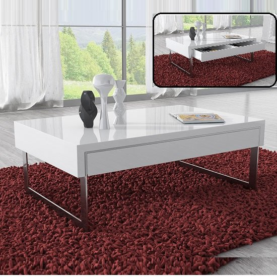STM 906 MB - Benefits of having white coffee table with storage