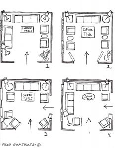 Its EASY to Arrange Furniture in a Square Living Room some Ideas that will Inspire You 232x300 - Popular Sofa Arrangements to Maximize Your Living Room Layout