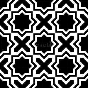 black white moroccan tiles seamless pattern vector background 59918062 300x300 - Home Decorating With a Moroccan Theme